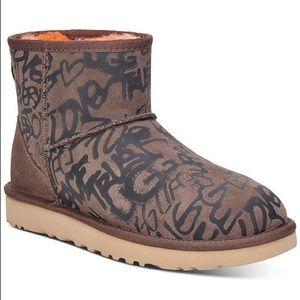 NIB - UGG® Classic Street Graffiti Mini Boots
